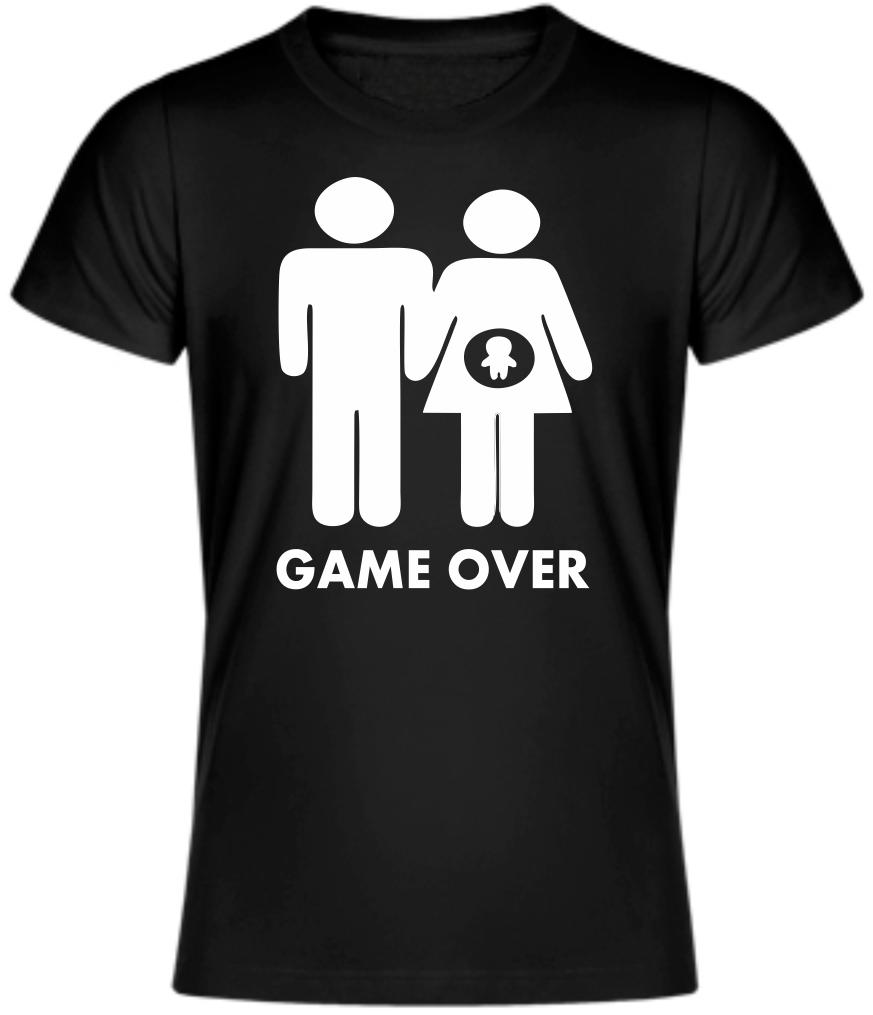 9a154b75ec15 Vtipné tričko pre budúcich oteckov a mamičky - Game over