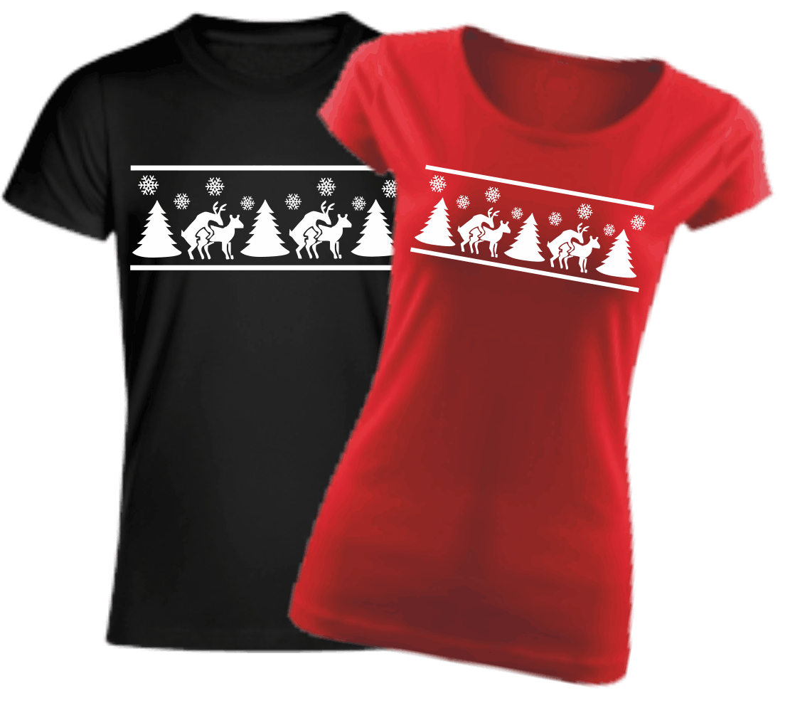 550529d6b7a4 Vtipné tričko s potlačou - Vianočné soby ǀ Fajntričko.sk