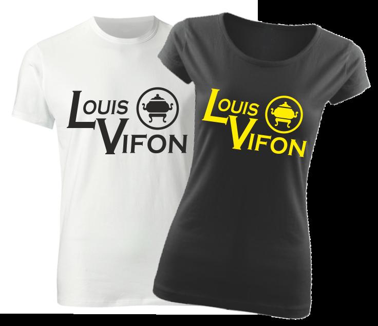 8f59f0f10f Vtipné tričko s potlačou Louis Vifon pre pánkov a panićky ǀ ...