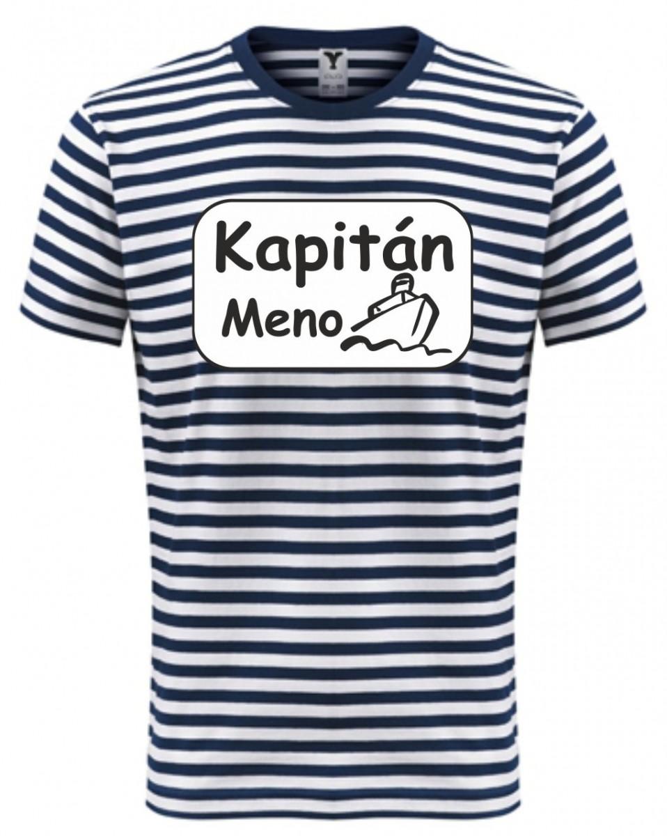 de44d54553e4 Namornícke tričko s potlačou - Kapitán + tovje meno ǀ Fajntričko.sk