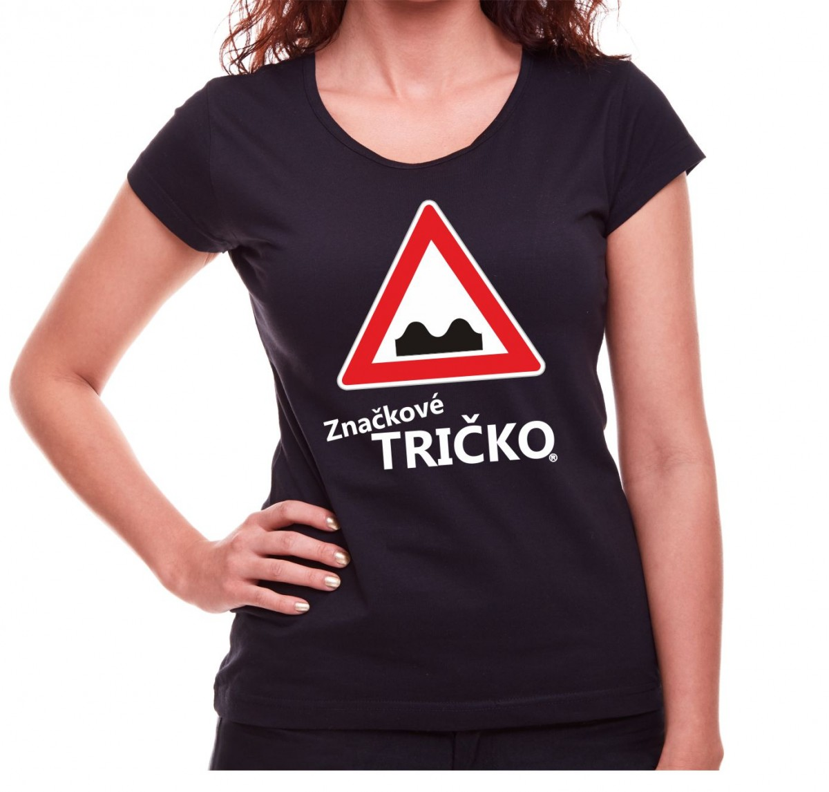 0a9a1bdd83db Dámske značkové tričko s potlačou - Nerovnosť vozovky ǀ Fajntričko.sk