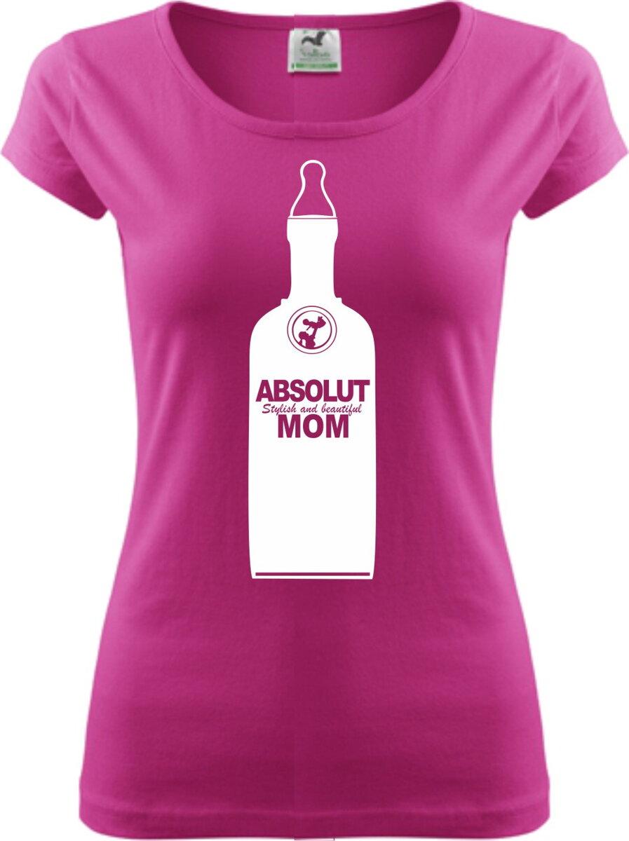 4376ea1f91e5 Vtipné tričko pre mamičky s potlačou - ABSOLUT MOM ǀ Fajntričko.sk
