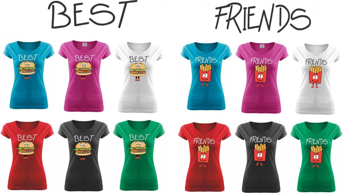 fedc73beed8d Kamarátske dámske tričká BEST FRIENDS - FAST FOOD ǀ Fajntričko.sk