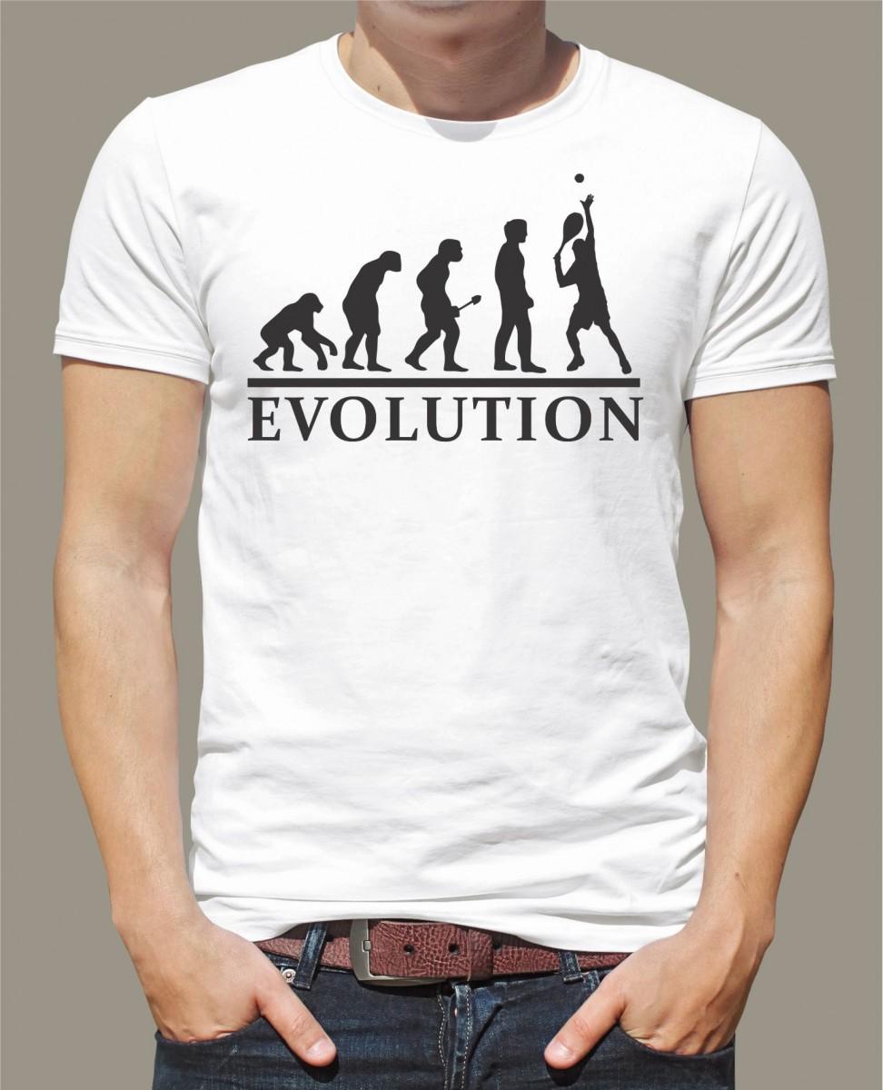 9b622da0401a Vtipné tričko s potlačou Evolúcia Tenis l Fajntričko.sk
