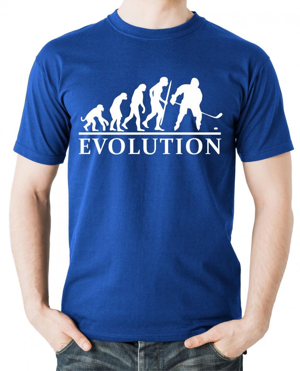 205b8b5fdf1e Vtipné tričko s potlačou Evolúcia Hokej l Fajntričko.sk