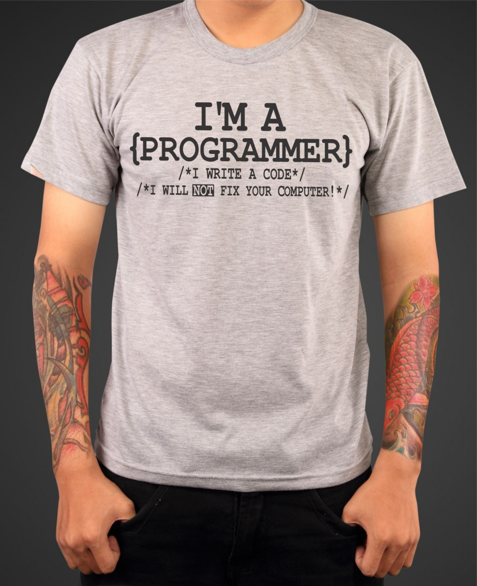 f1dd880c1a70 Vtipné programátorske tričko s potlačou I m a Programmer ǀ Fajntričko.sk