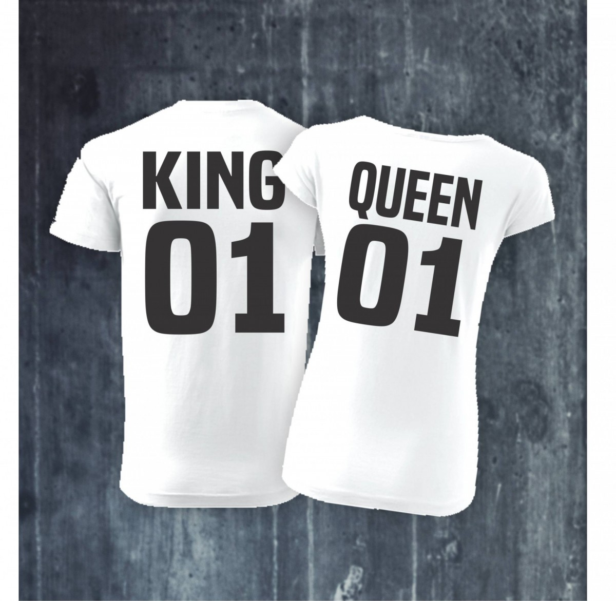 b0796a47e34d Pánske dámske tričko KING 01 - QUEEN 01 ǀ Fajntričko.sk