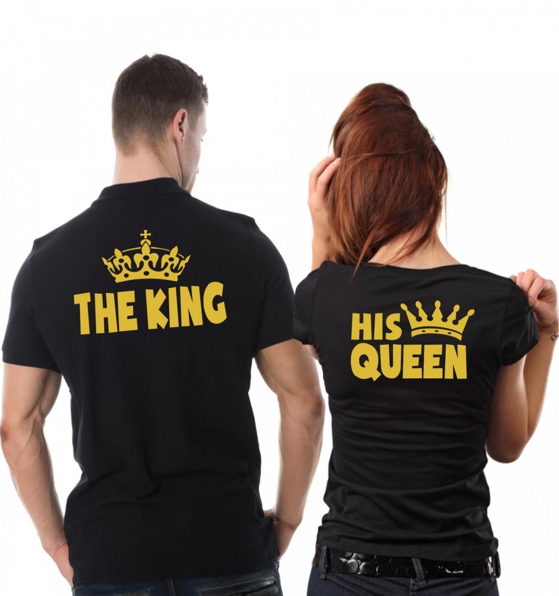 2e4bf9516d18 Partnerské tričká Pánske The King + Dámske his queen (dámske+pánske tričko)
