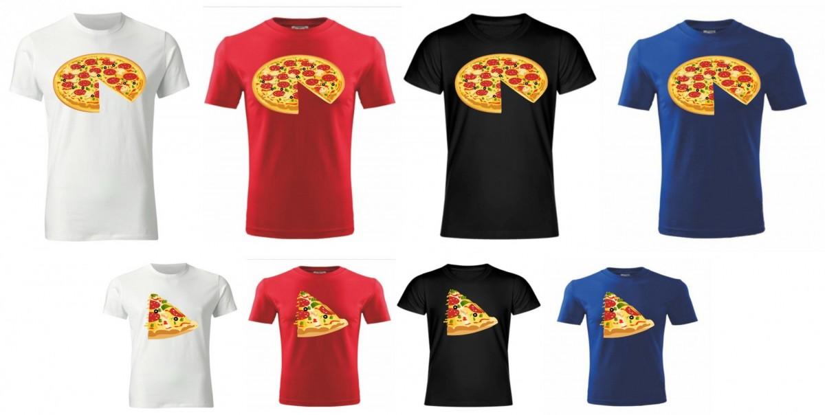 Rodinný pár tričiek - PIZZA ǀ Fajntričko.sk eac32fc1cb