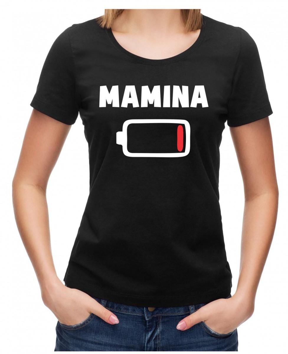 Rodinné tričko - Mamina (BATERKA) ǀ Fajntričko.sk 4871cb4d75