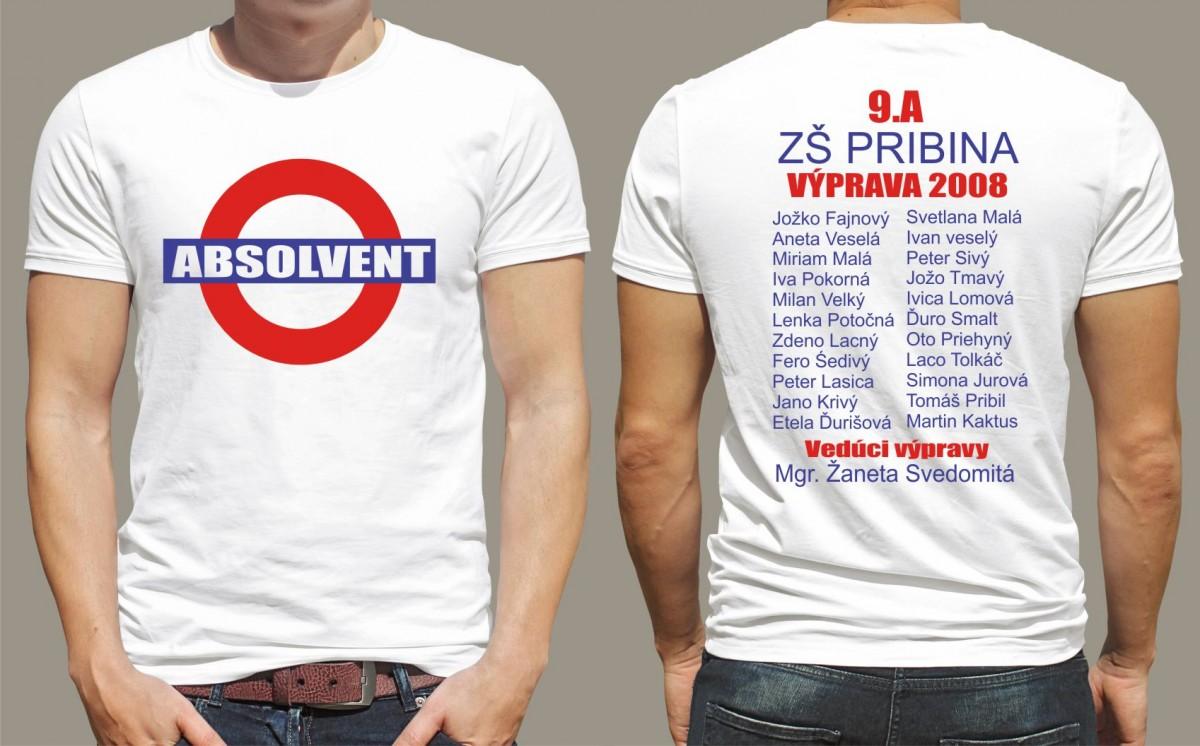 f5fe0ad497 Absolventské tričká - s potlačou absolvent - jack style I Fajntričko.sk