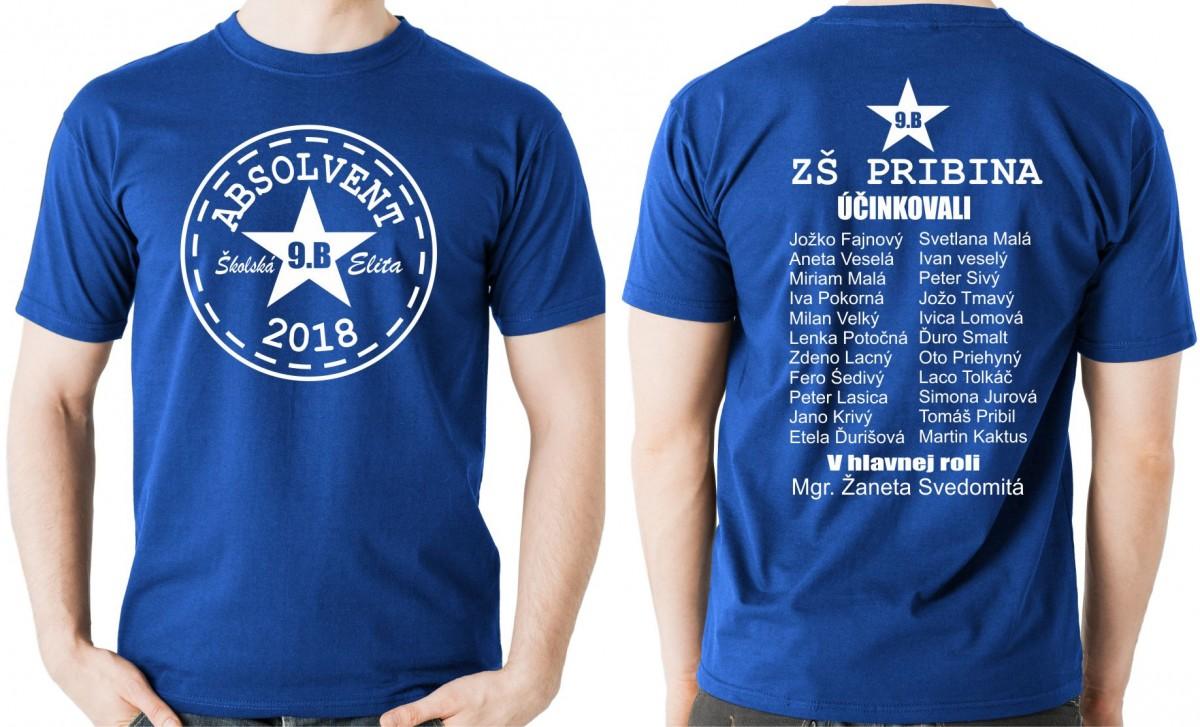 9a7745ef5ef Absolventské tričko - ABSOLVENT - Školská elita (minimálny odber 9ks)