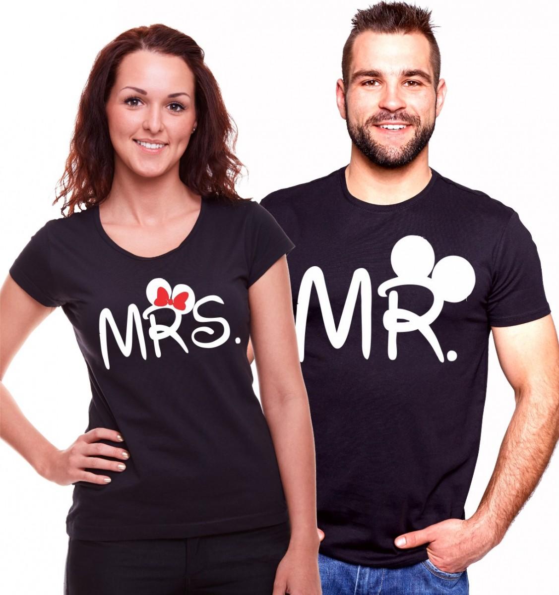30c7de2bfef3 Partnerské trićká - Mr. Mrs. Mickey valentínske tričká ǀ Fajntričko.sk