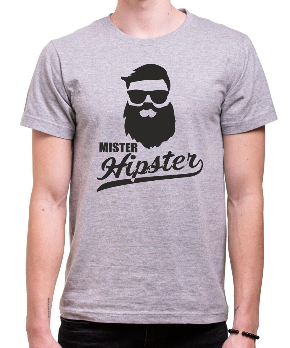 00d37c456f Hipsterské tričko - Mister Hipster ǀ Fajntričko.sk