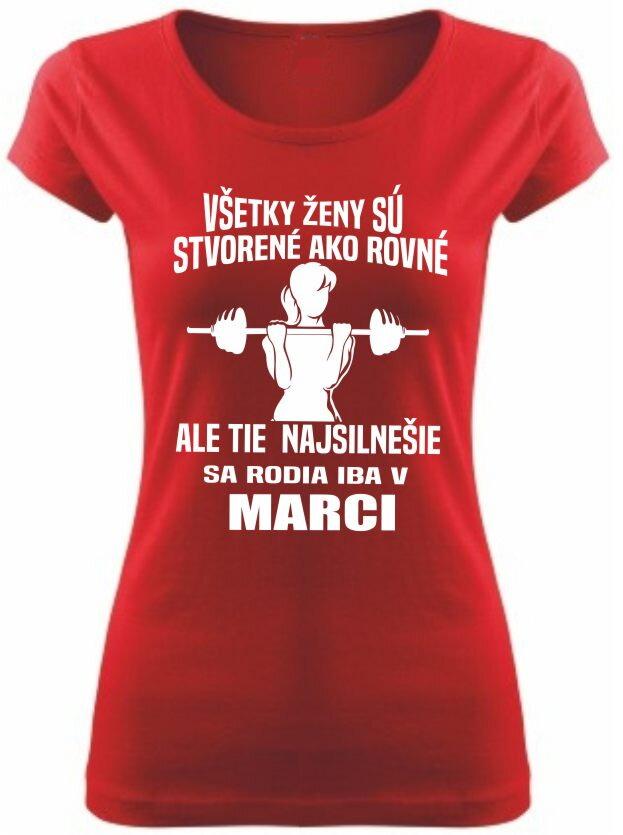 7ec73591b082 Narodeninové dámske fitness tričko - Tie najsilnejšie sa rodia v ...