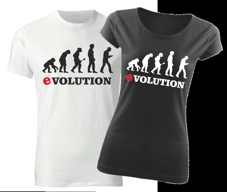 6ddc3ea7ea3f Vtipné tričko s potlačou Smartphone evolúcia ǀ Fajntričko.sk