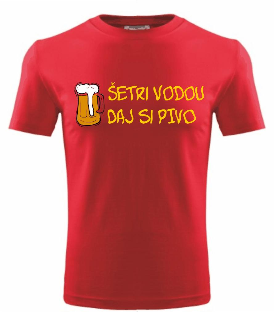 9a54307454 Tričko šetri vodou daj si pivo ǀ Fajntričko.sk