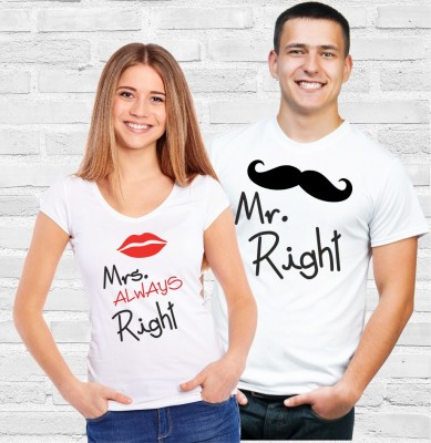 Pánske/dámske tričko Mr. Right/Mrs. Always Right