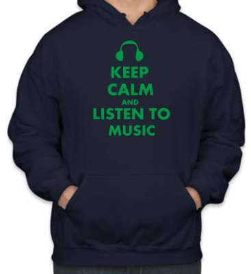 Mikina KEEP CALM AND LISTEN TO MUSIC