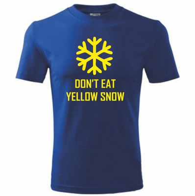 Tričko Yellow snow - Žltý sneh