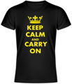 Tričko KEEP CALM AN CARRY ON