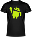 Tričko Android eats apple UNISEX