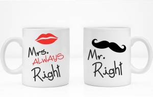 Sada: 2 hrnčeky Mr. Right / Mrs. Always right