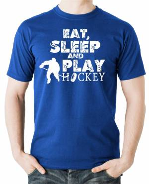 Tričko - Eat, sleep and play hockey