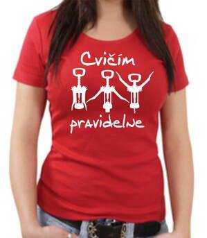25e79113a4cc Vinárske tričko - Cvičím pravidelne