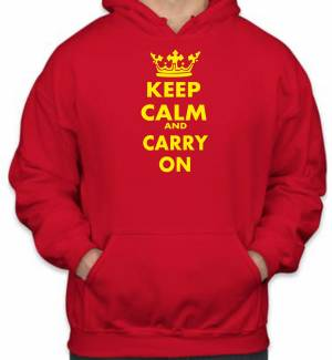 Mikina KEEP CALM AND CARRY ON