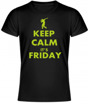 Tričko - KEEP CALM IT'S FRIDAY