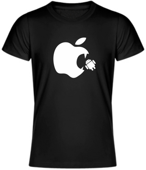 Tričko - Apple eats android UNISEX