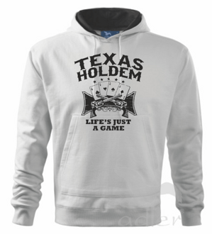 Mikina - Texas holdem, Life is a game